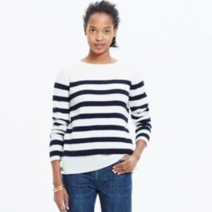 Blue and White Wool Madewell Sweater